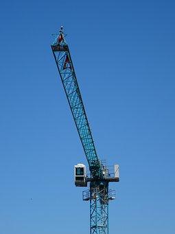 Crane, Technology, Sky, Blue, Construction, Build