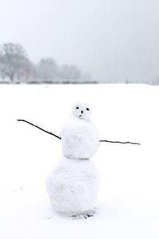 Snow Man, Snow, Winter, Wintry, White, Cold, Funny