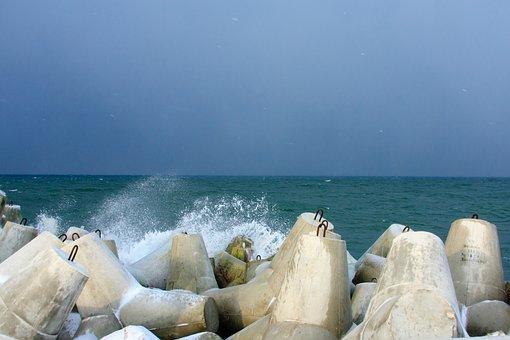 Baltika, Sea, Storm, Landscape, Surf, Wave