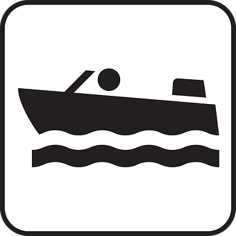 Motor-boat, Boat, Motor Boat Engine, Symbol, Sign, Icon