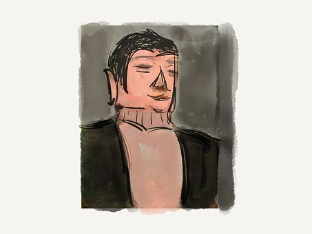 Buddha, Leshan, Drawn