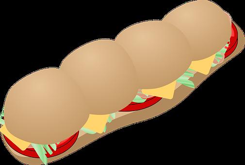 Sub, Sandwich, Meal, Lunch, Large, Big, Submarine