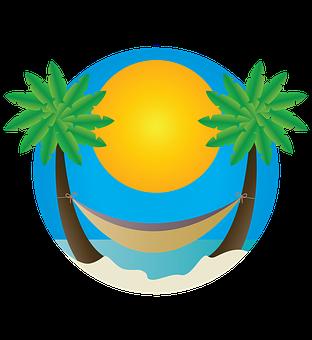 Beach, Palm Trees, Hammock, Landscape, Vacation, Summer