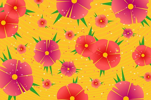Background, Flowers, Floral, Pattern