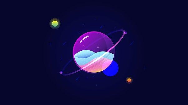 Glass Planet, Space, Planet, Universe, Globe, Light