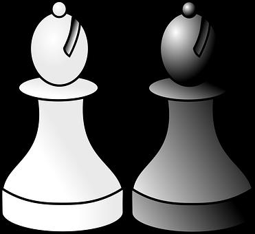 Chess, Bishop, White, Black, Game, Recreation