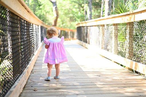 Bridge, Nature, Path, Girl, Walking