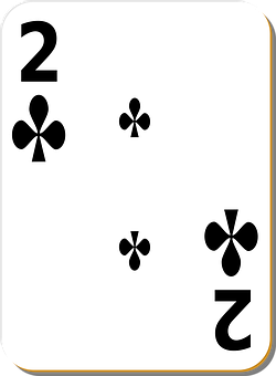 Playing Card, Cards, Clubs, Two, Suit, Black, Games