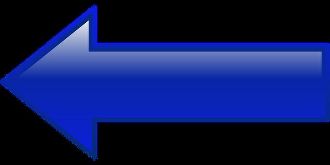 Arrow, Left, Blue, Pointing, Shape, Button, Facing