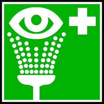 Sign, Eye, Cleaning, Wash, Rinsing
