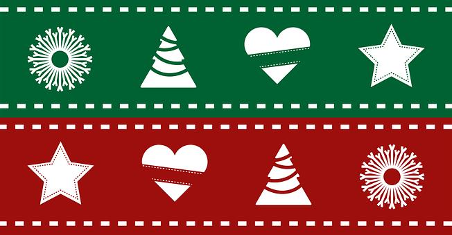 Christmas, Snowflake, Heart, Gift, Vector, Tree