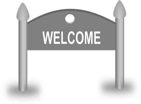 Welcome, Board, City, Entry, Invitation, Sign