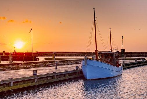 Sea, Denmark, Cutter, Coast, Water