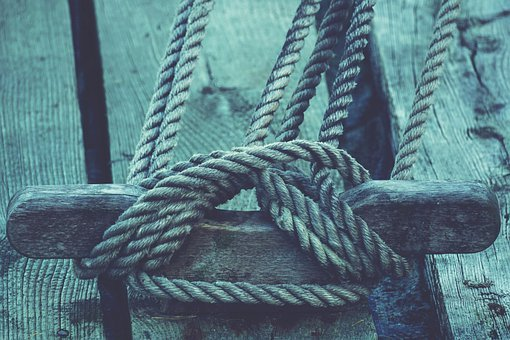 Rope, Dew, Knot, Port, Ship, Sailing Vessel