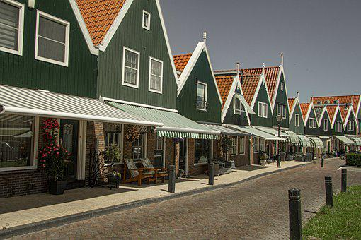 Volendam, Netherlands, Holland, Wooden, Historical
