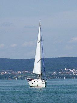 Sailing, Lake, Summer, Lake Balaton, Hungary, Tour