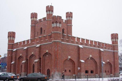Castle, Tower, Kaliningrad, Architecture