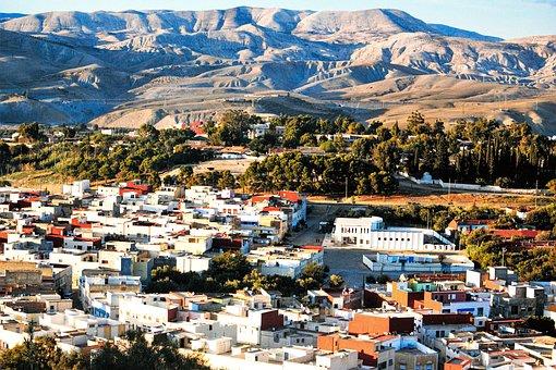 Taza, Maroc, City, Landscape, Urban, Architecture