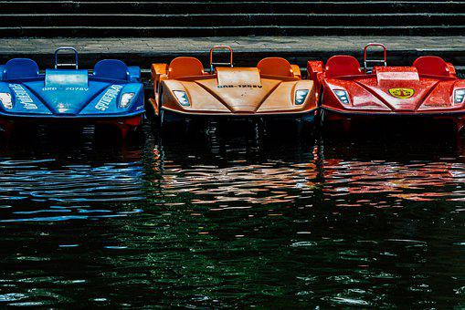 Pedal Boats, Water, Leisure, Fun, Summer