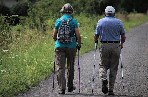Walking, Spacer, The Path, Senior, Older, Total, Links