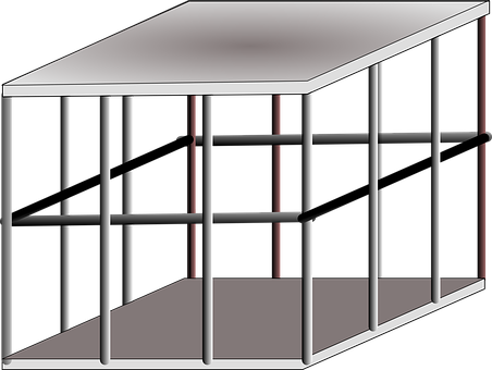 Cage, Metal, Trapped, Steel, Iron, Protection
