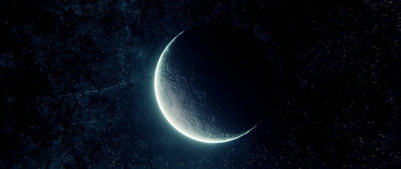 Moon, Glow, Moonlight, The Dark Side