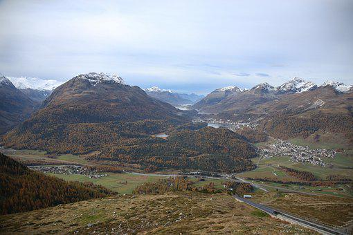 Engadin, Switzerland, Mountain, Landscape, Mountains