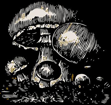 Mushroom, Vegetable, Big, Small, Big Hat