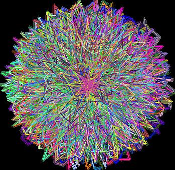 Mandala, Explosion, Line Art, Decorative, Ornamental