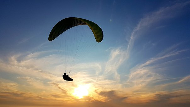 Paraglider Sunset, Paragliding, Freedom, Free, Ease