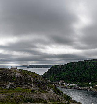 St Johns, Newfoundland, Canada, Port, Ocean, Water