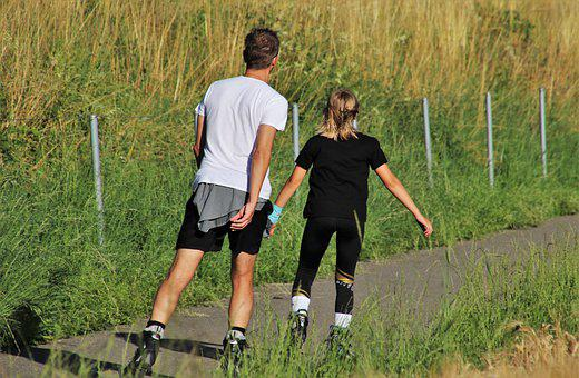 Green Summer, Roller Skates, Horse, Sports, Two