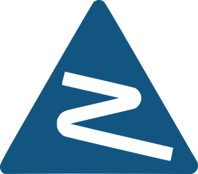 Road, Sign, Curve, Blue, White, Street, Symbol, Warning