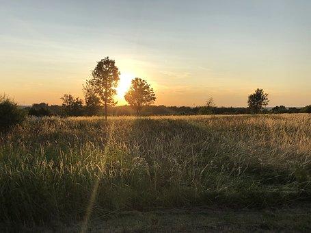 Sundown, Sunset, Dusk, Landscape, Sundowner