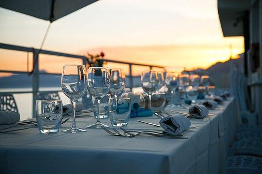 Sunset, Dinner, Table, Luxury, Evening, Romantic, Beach