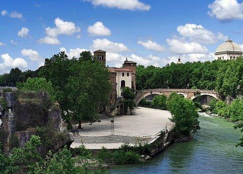 Tiber, Tiber Island, Rome, Ponte Fabricio