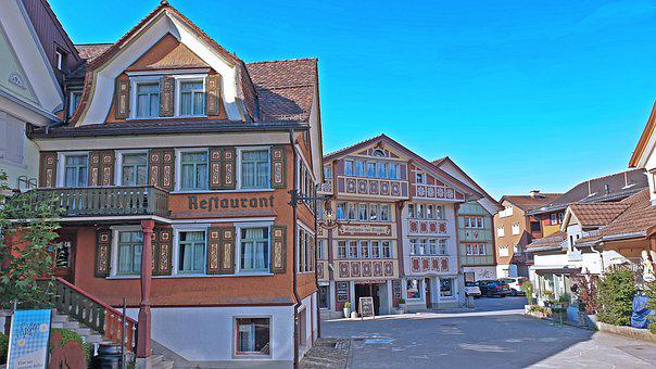 Switzerland, Appenzell, Tradition, Village, Building