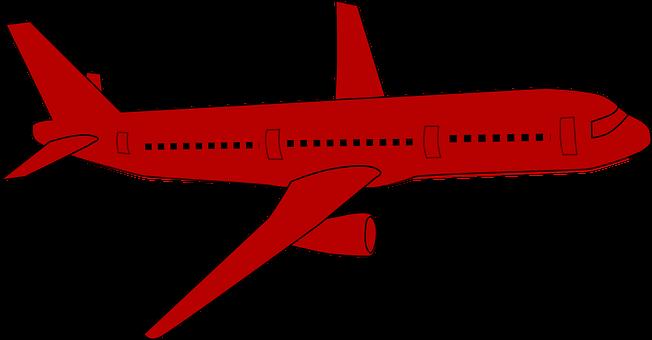 Airplane, Jet, Plane, Red, Flying, Aircraft, Aeroplane