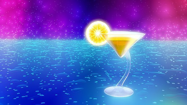 Cocktail, Abstract, Colorful, Neon, 3d, Blender