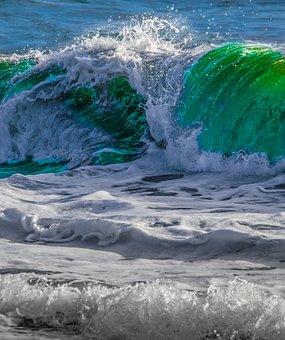 Sea, Naples, Waves