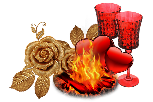 Flame, Red, Heart