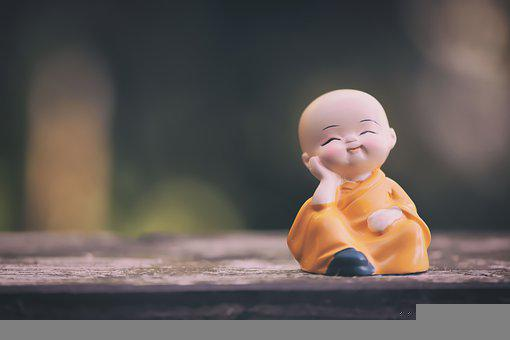 Monk, Figure, Relaxed, Religion, Meditation, Relaxation