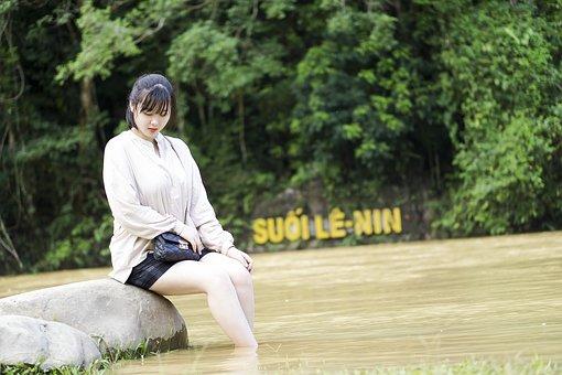 Vietnamese Women, Women, Girls, Water, Streams