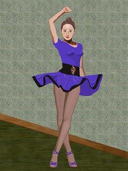 Dancer, Dancing Costume, Female, Performance