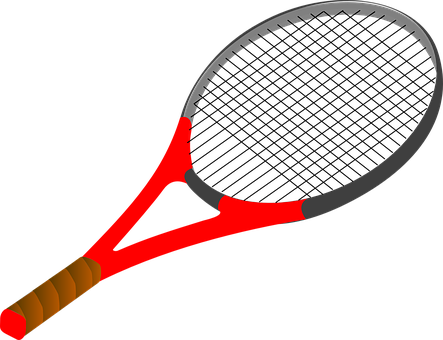 Tennis, Racket, Drawing, Isolated, Racquet, Sports