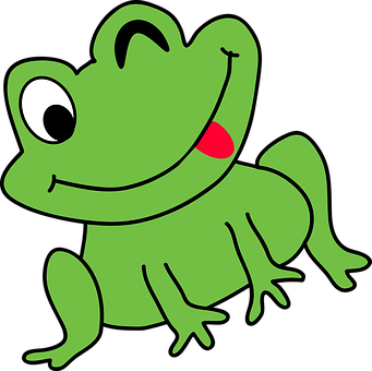 Cartoon, Frog, Funny, Amphibian, Toad, Sitting