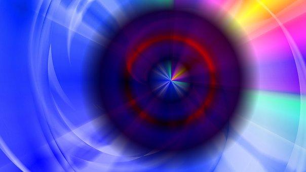 Space, Eye, Swirl, Circles, Sphere, Dark, Glow