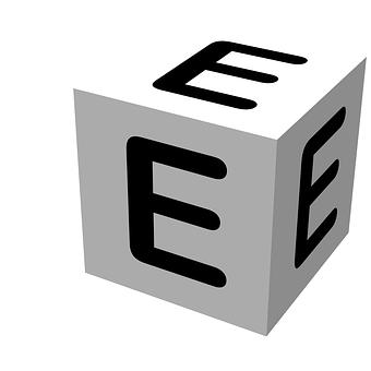 Letter, Block, E, Wooden, Alphabet, Education, Text