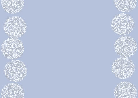 White Spots, Spots, Blue Background, Blue And White