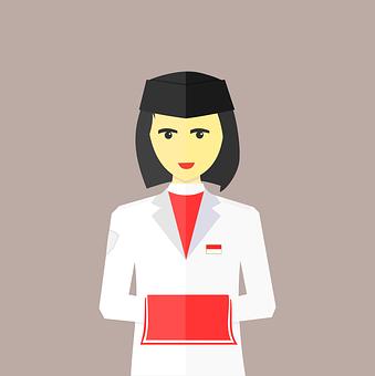 Indonesia, Woman, Girl, Character, Female, Uniform